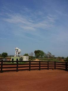 Entrada da fazenda Sta rita II saindo de são miguel do Araguaia
